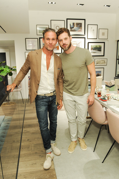 Jeffery Alan Marks And Christos Prevezanos At The Rug Company And Farrow U0026  Ball Launch Dinner, Los Angeles